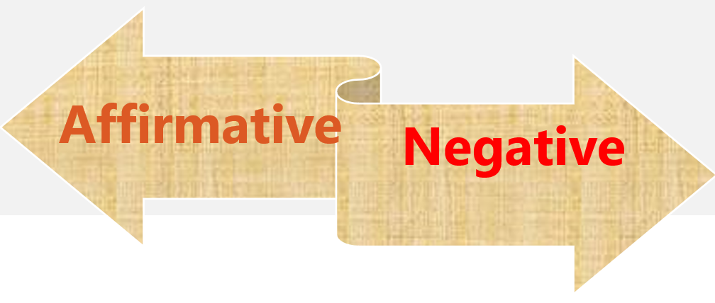 Change into Negative Sentence without changing meaning