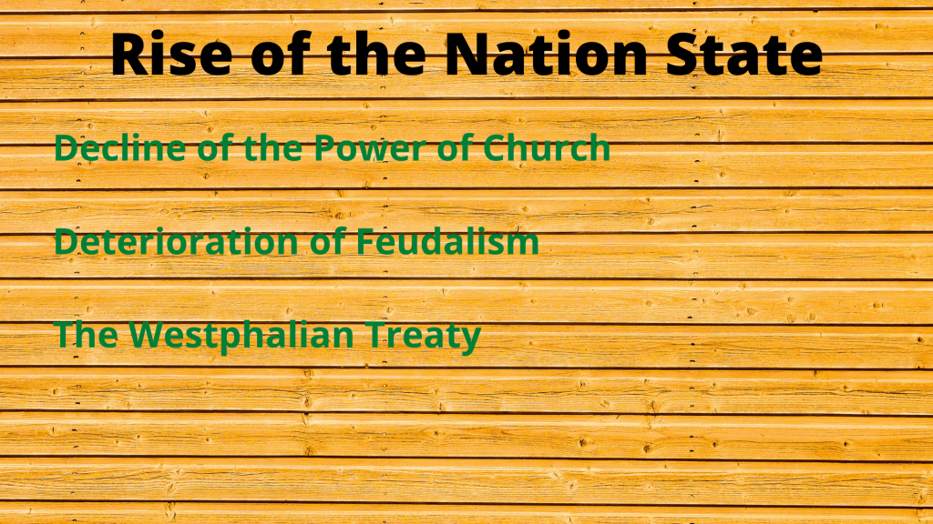 Rise of the Nation-State System in International Relations (Important Factors)
